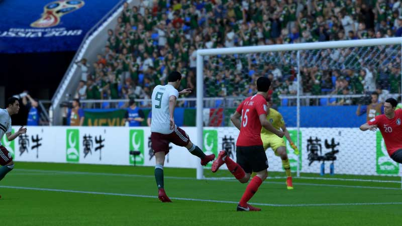 Simulación Corea del Sur contra México - Copa del Mundo Rusia 2018