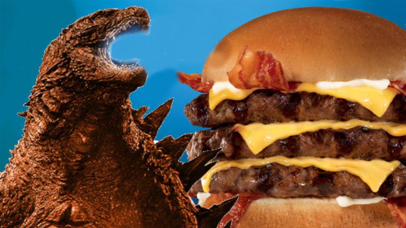 Godzilla Carls Jr