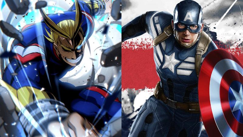 All Might de My Hero Academia se convierte en Capitán América en este mash-up
