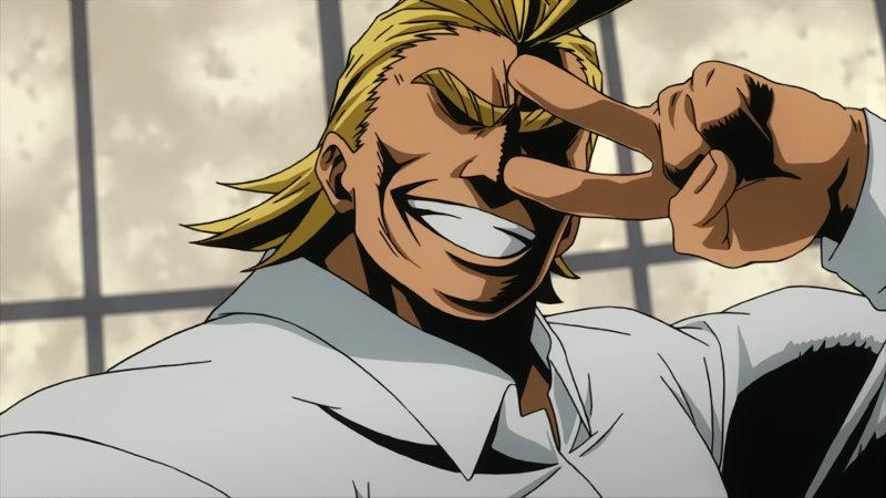 My Hero Academia: All Might se vería así como porrista y es lo más kawaii