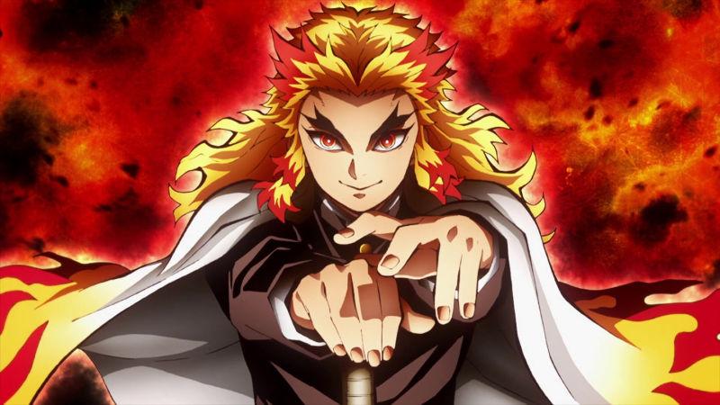 kimetsu no yaiba mugen train Kyojuro Rengoku de Demon Slayer