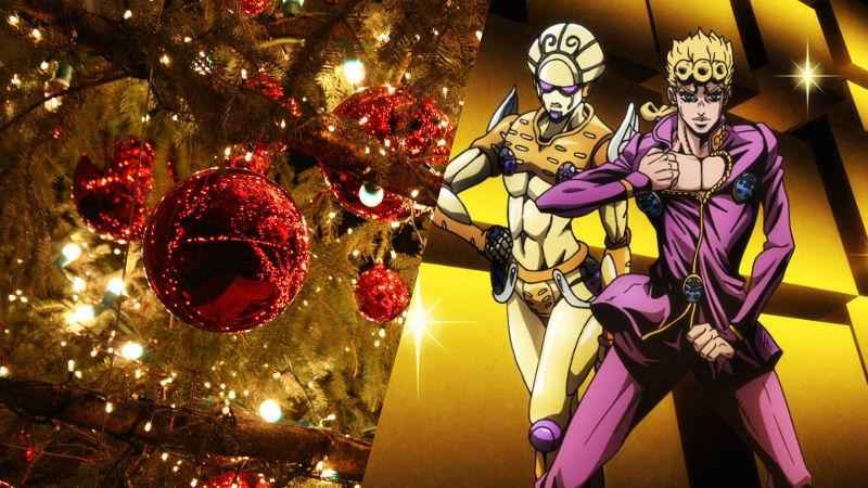 Giorno de JoJo's Bizarre Adventure sigue la moda navideña