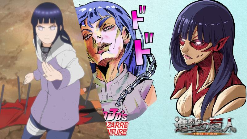Así se ve Hinata de Naruto en Dragon Ball, One Piece y más