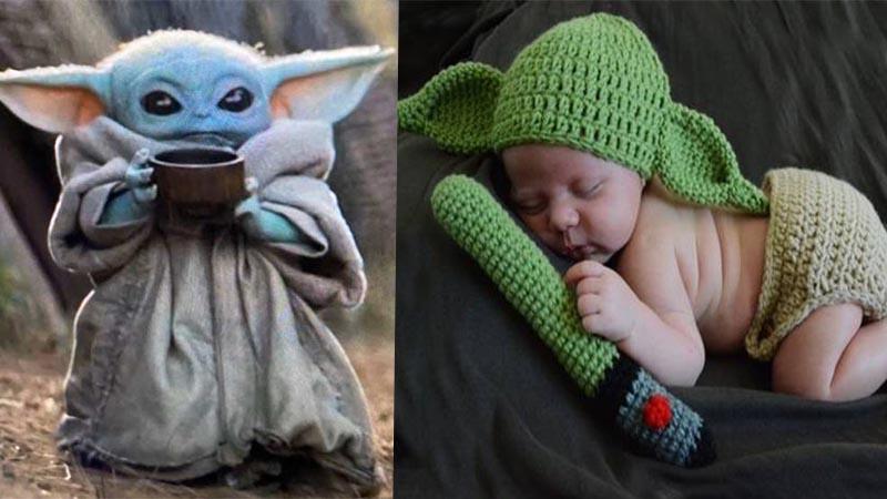 Star Wars: Visten a bebés como Baby Yoda