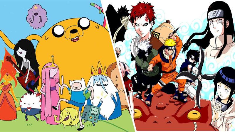 Cuando los mundos de Naruto y Hora de Aventura chocan