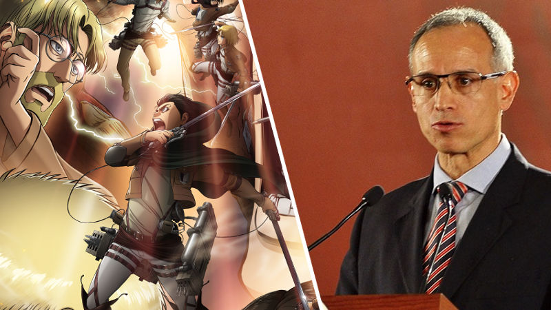 Hugo López-Gatell y otros ahora son personajes de Attack on Titan