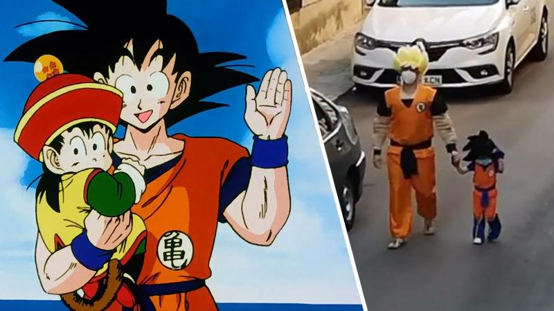 En medio de la pandemia, padre e hija hacen cosplay de Dragon Ball Z