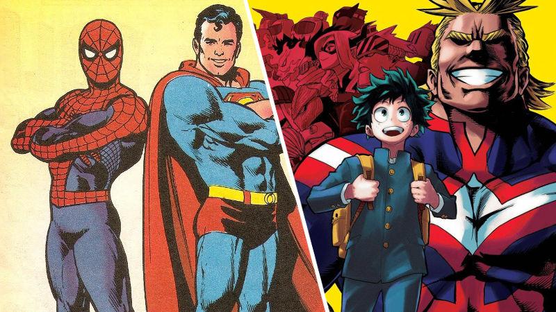 El universo de My Hero Academia conoce a Marvel y DC Comics desde hace mucho