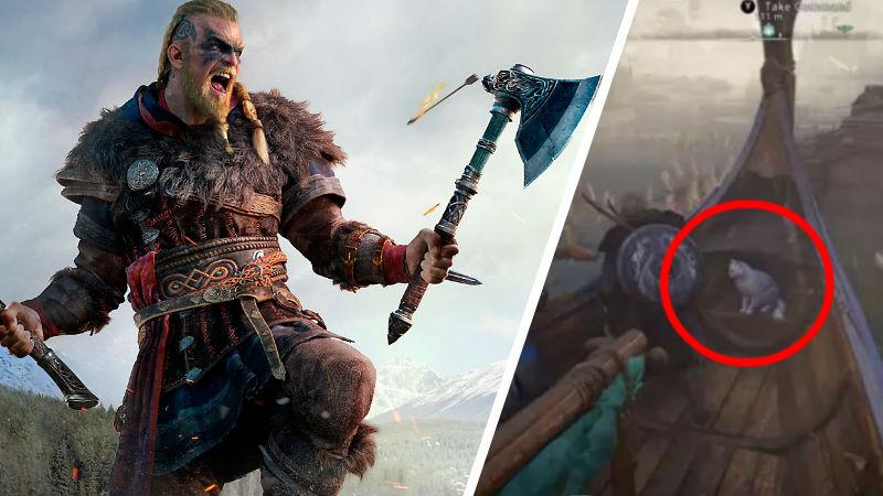 Gatito en Assassin's Creed Valhalla