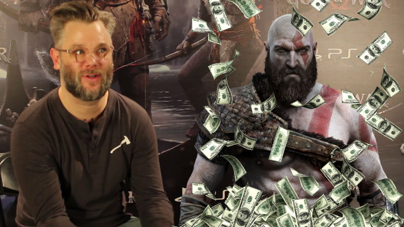 Cory Balrog con Kratos y lluvia de dinero