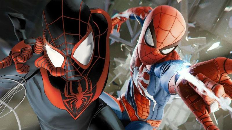 Miles Morales con Peter Parker Spider-Man