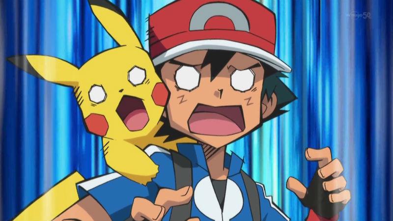 Ash y Pikachu Sorprendidos Nintendo