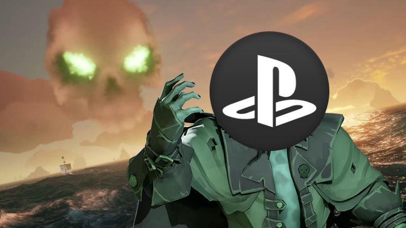Sea of Thieves con logo de PlayStation