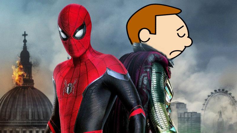 Spider Man con Mysterio triste