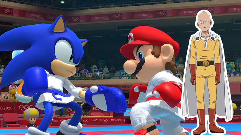 Saitama Sonic Super Mario One-Punch Man