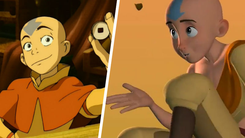 Avatar Aang con animacion 3D