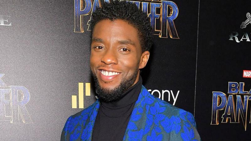 Chadwick Boseman en Alfombra de Black Panther