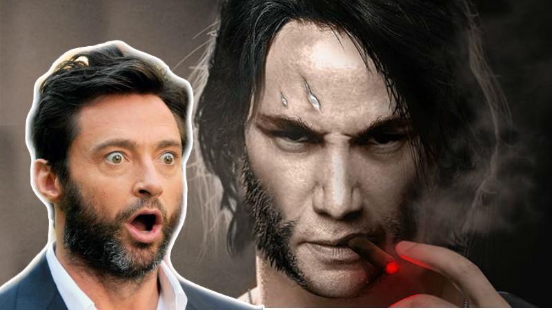 Keanu Reeevs como Wolverine con Hugh JAckman