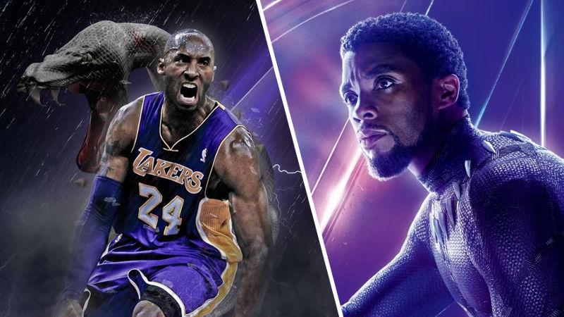 Black Panther jugando básquetbol, el adiós a Chadwick Boseman y Kobe Bryant