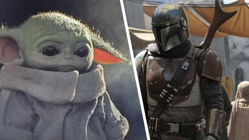 The Mandalorian con Baby Yoda
