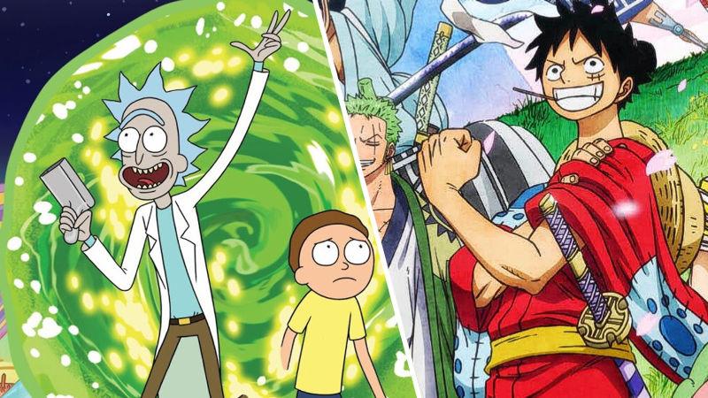 Así imaginan crossover de One Piece y Rick y Morty