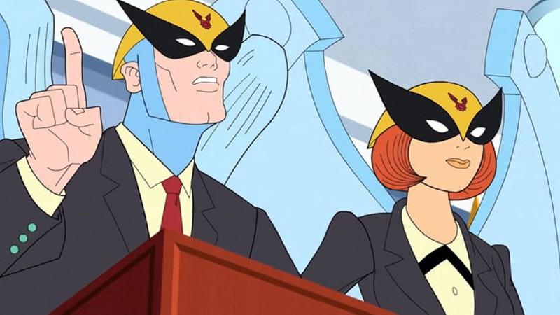 Birdgirl y Harvey Birdman Adult Swim