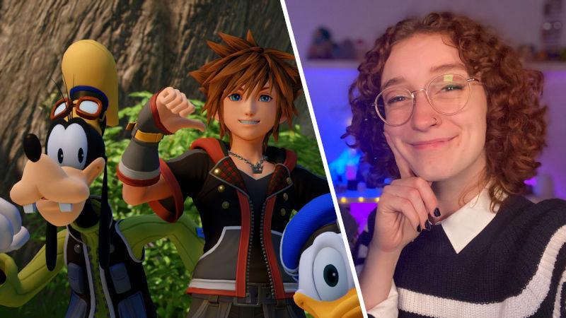 Critican a streamer de Twitch por jugar en fácil Kingdom Hearts III y ella se defiende