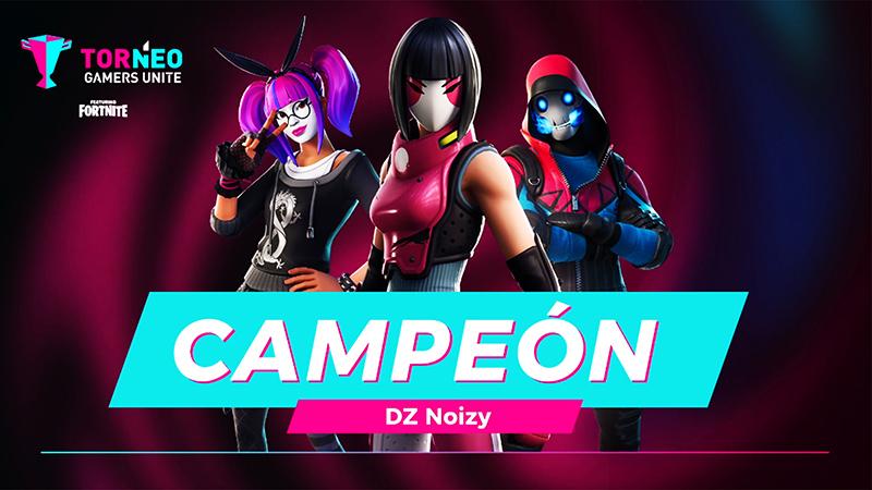 fortnite, noizy, campeon, gamers unite