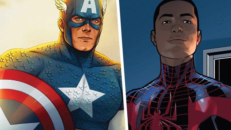 Capitan America Spider-Man Miles Morales