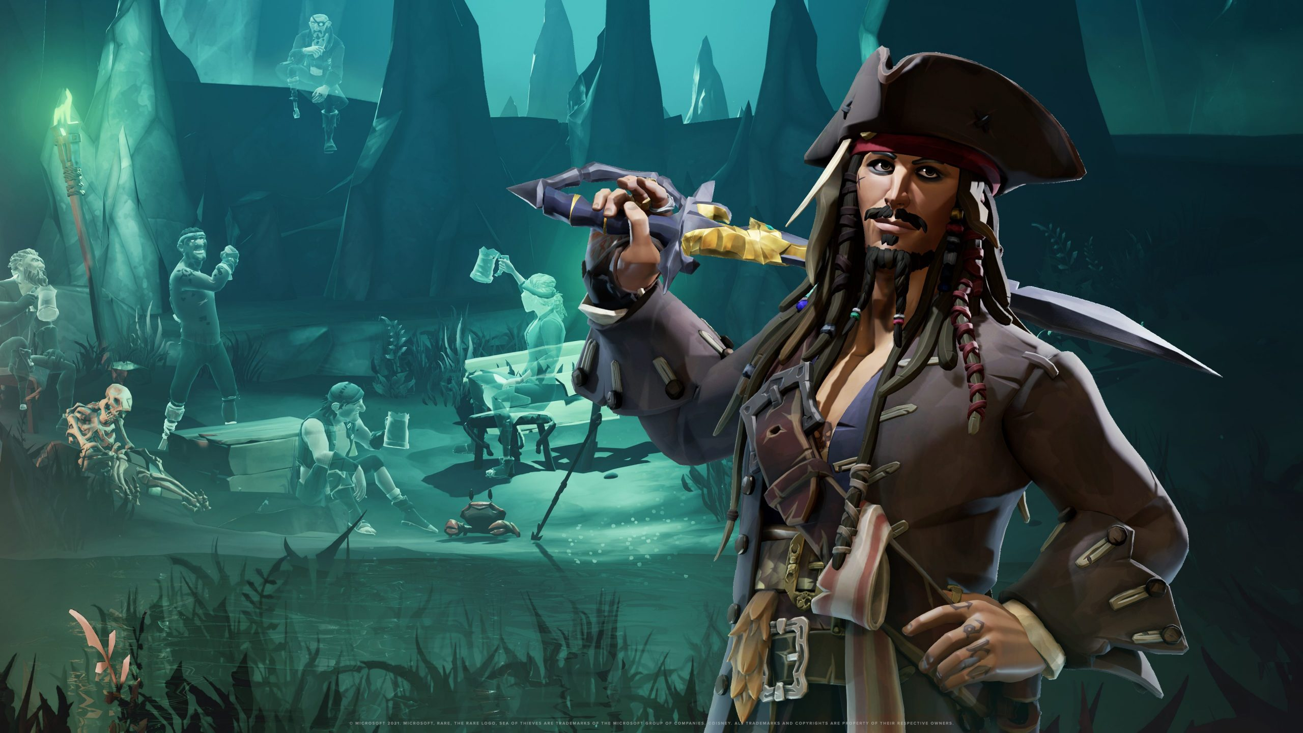 Sea of thieves a pirate's life Jack Sparrow