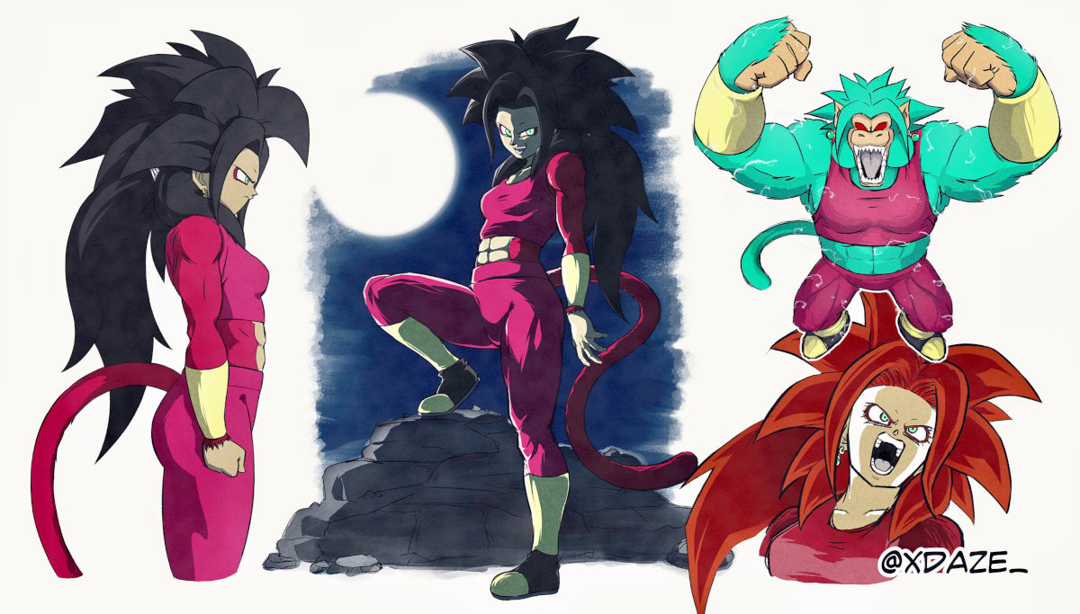 Así se vería Super Saiyajin 4 Kefla en Dragon Ball