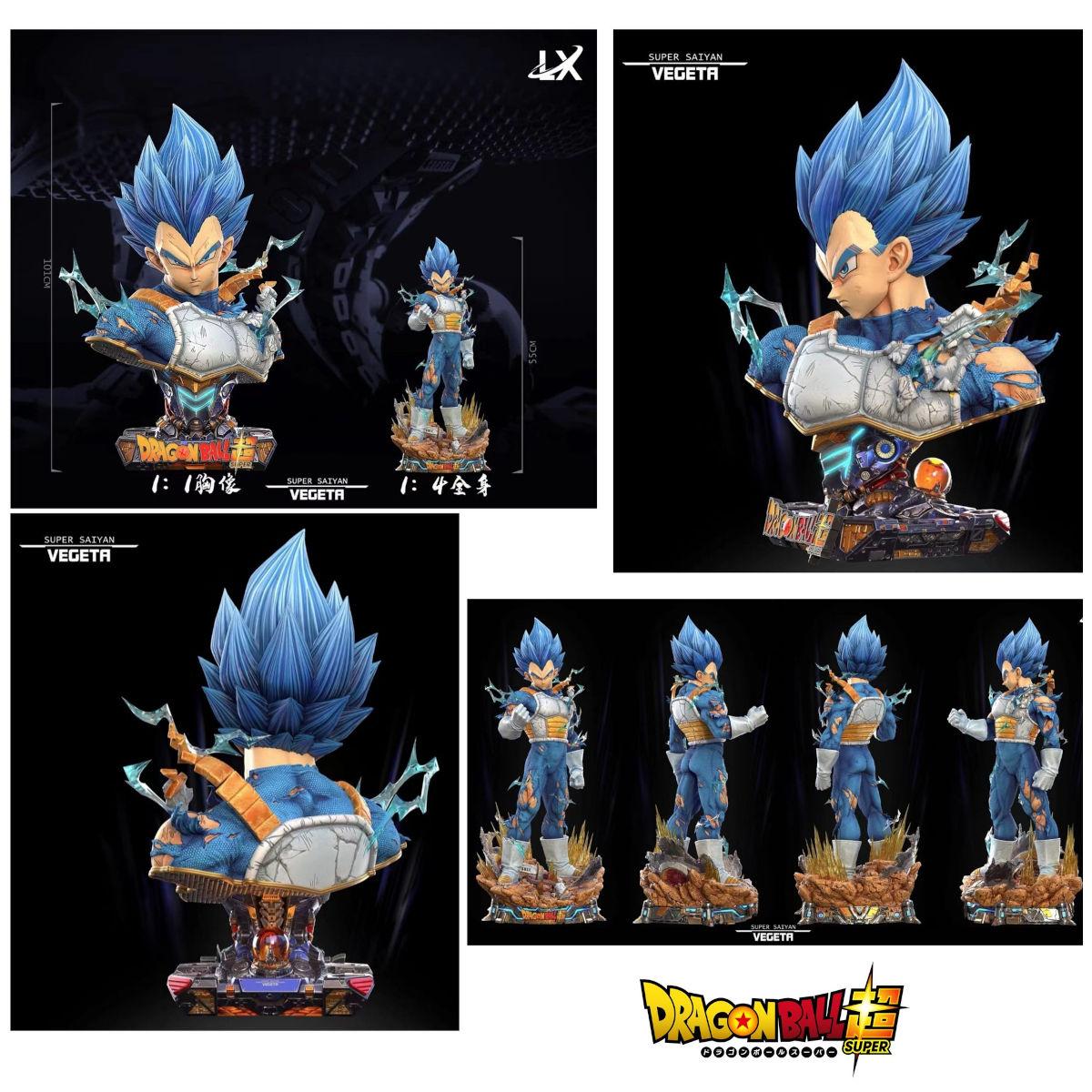 Vegeta de Dragon Ball Z y Super consigue nuevo busto y figura