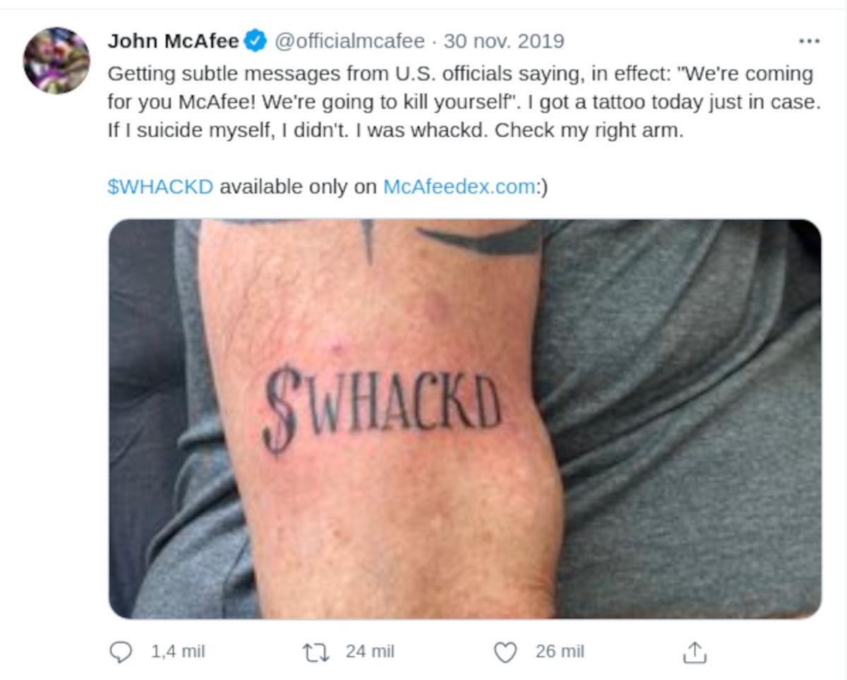 Fundador de McAfee muere en aparente suicidio