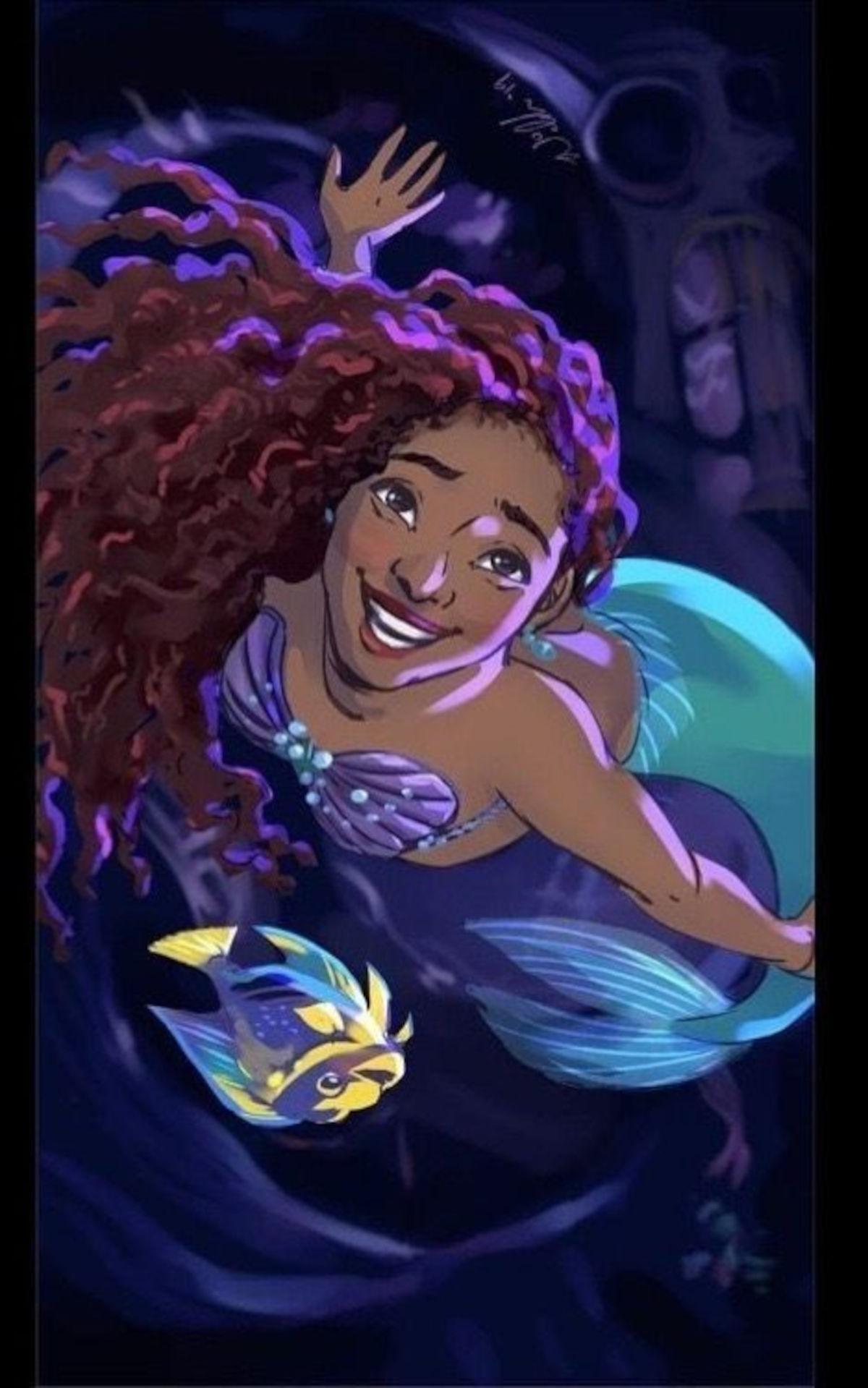 Revelan cómo se vería Halle Bailey como La Sirenita