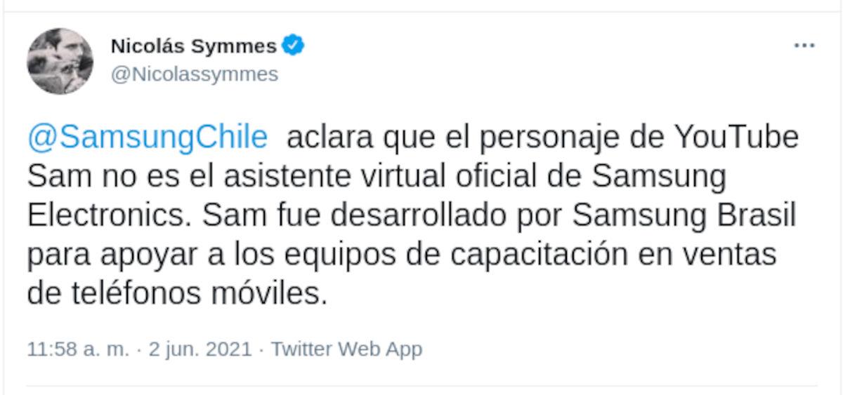 Samsung aclara que Sam no es sustituta de Bixby