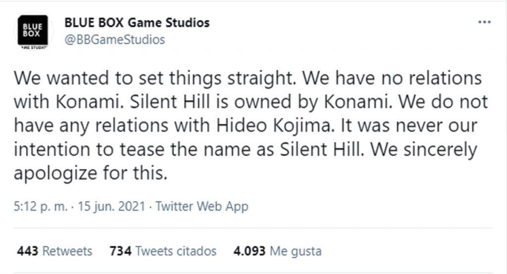 Disculpa Blue Box Silent Hill