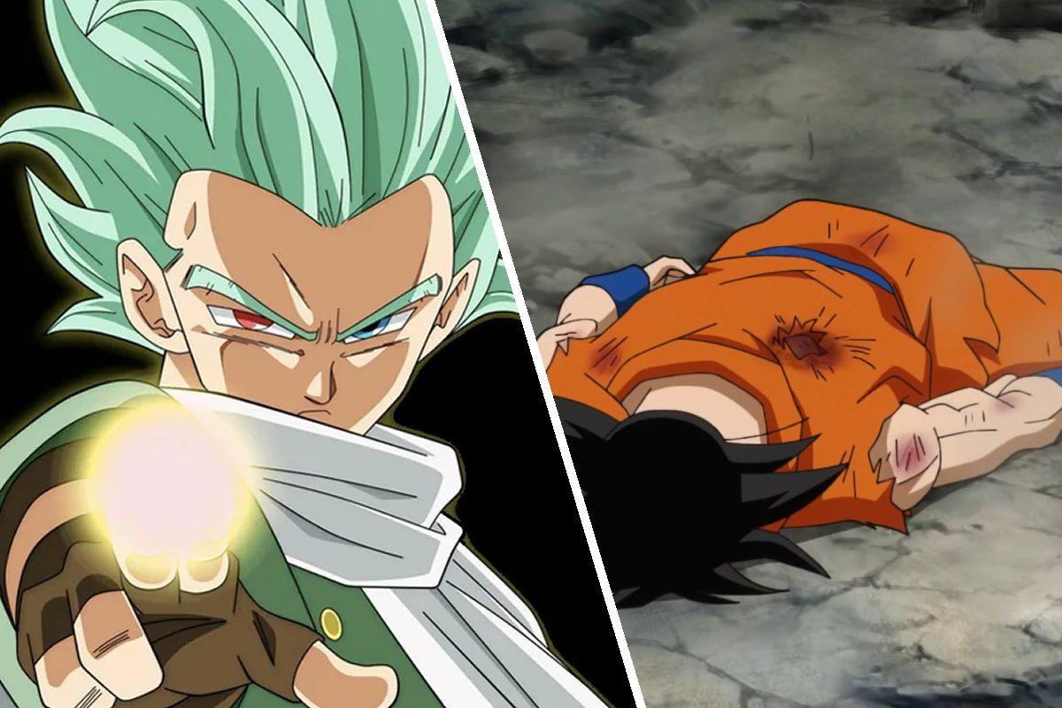 Goku derrotado por el roto de Granola