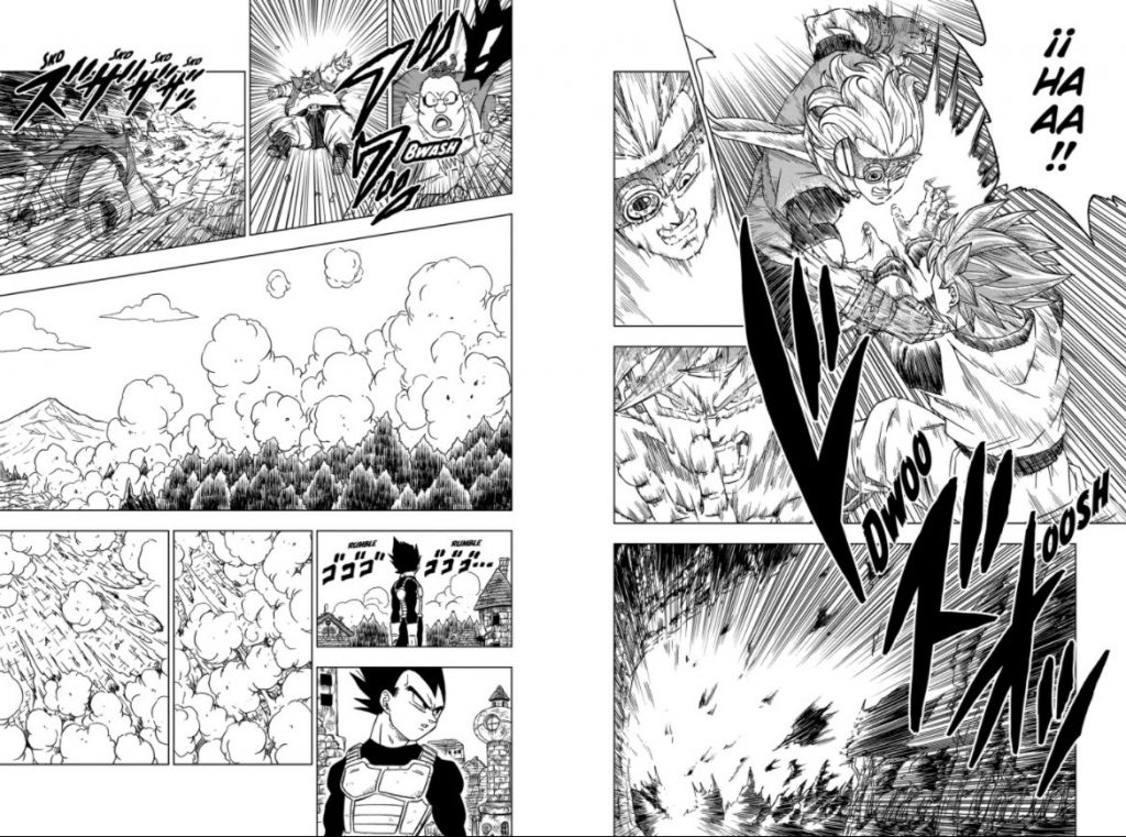 dragon ball super capítulo chapter 73 manga final granola goku vegeta