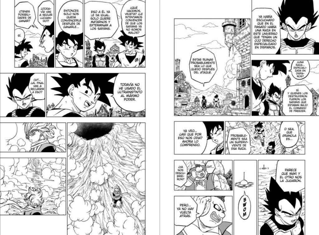 capítulo chapter 73 manga final granola goku vegeta