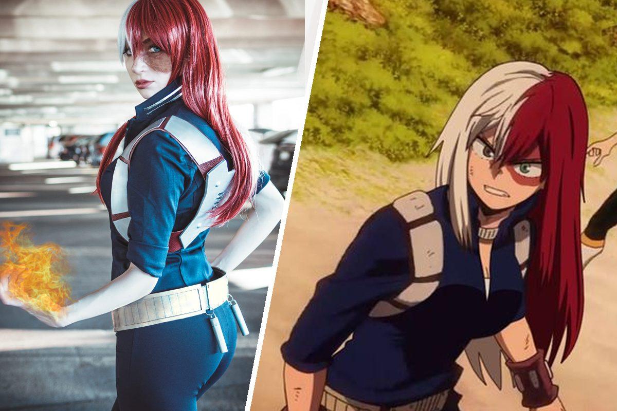 cosplay female todoroki my hero academia