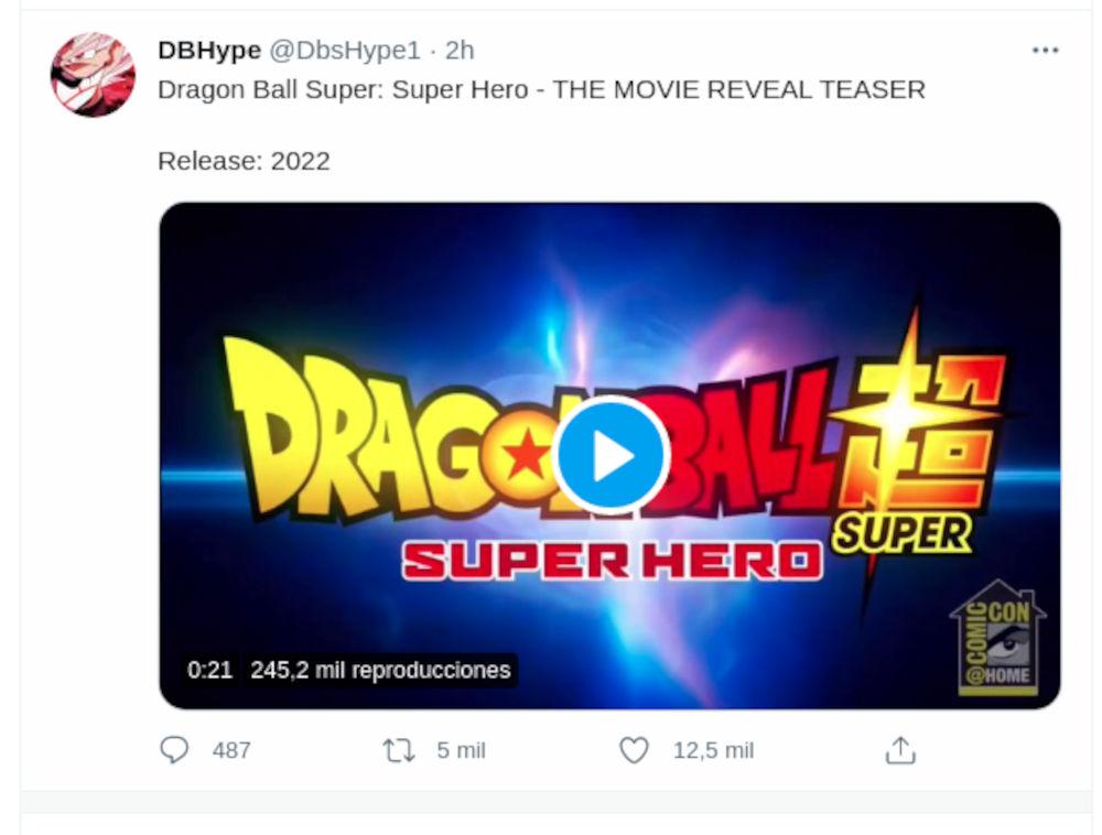 La nueva película de Dragon Ball Super tiene teaser y título