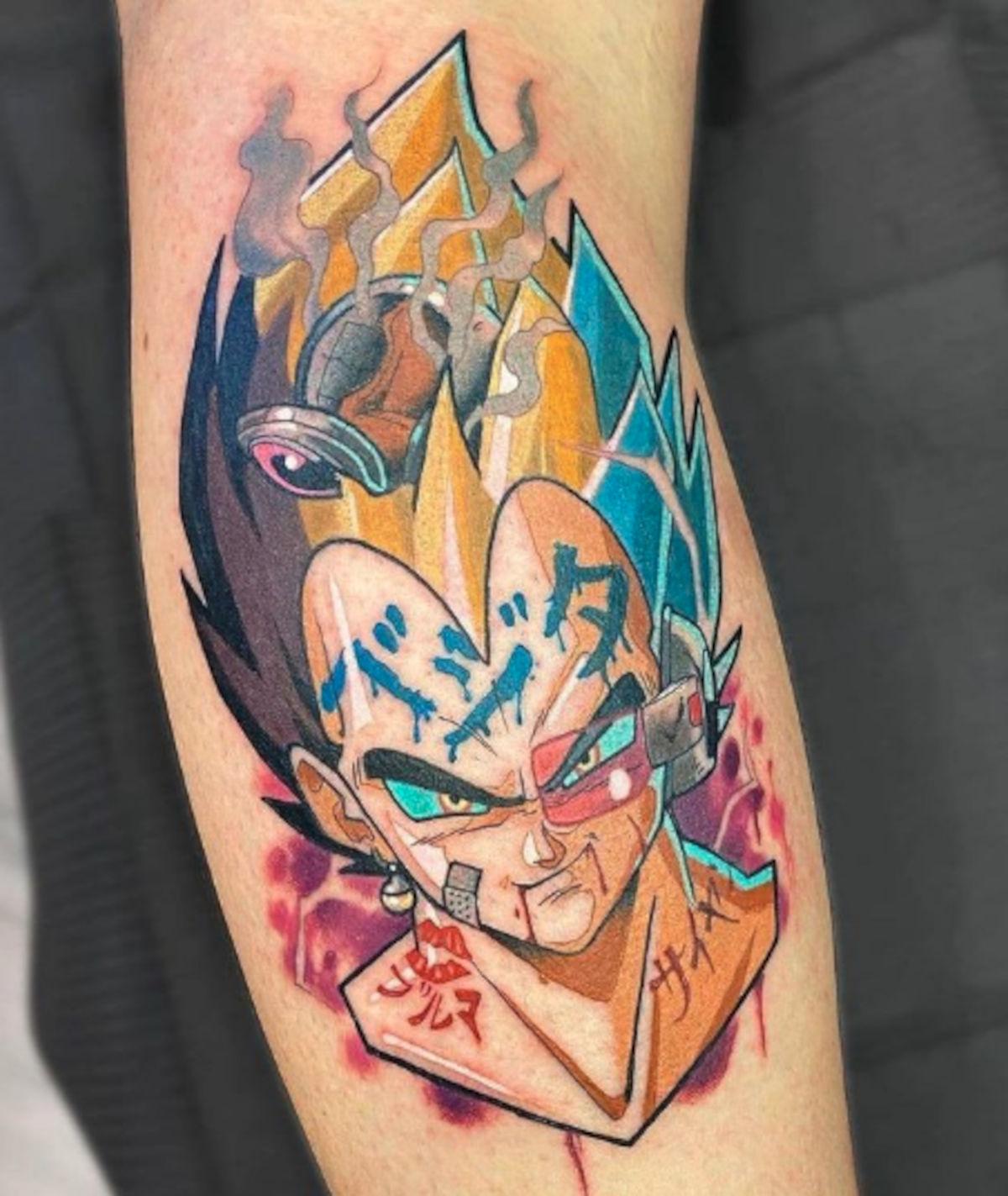 Vegeta de Dragon Ball consigue espectacular tatuaje