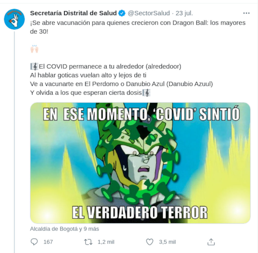Usan Dragon Ball Z en Colombia para vacunación