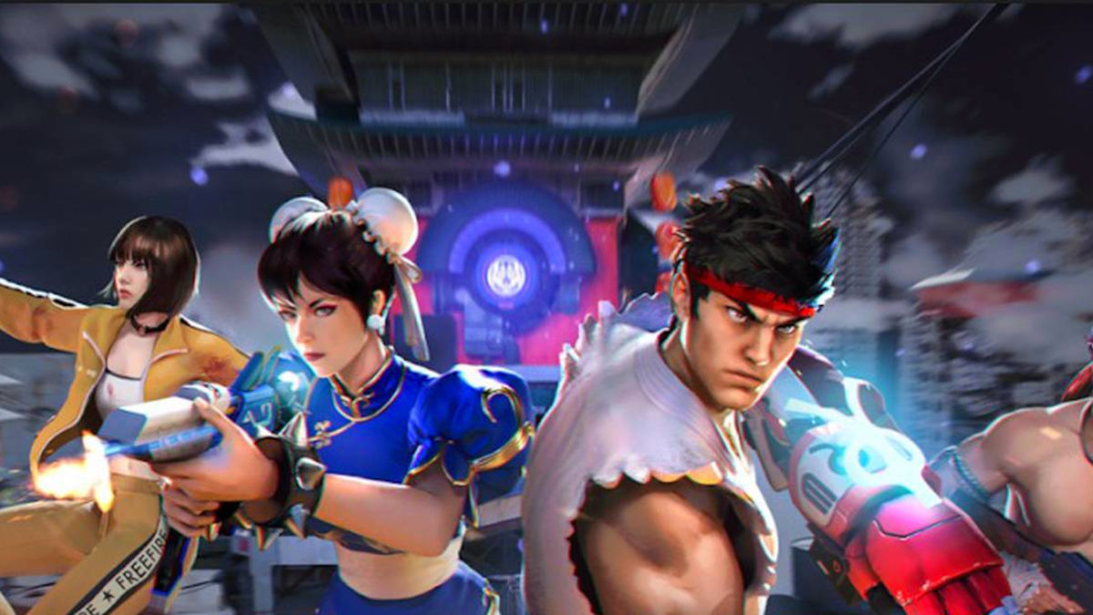 Free Fire recibe a Ryu y Chun-Li de Street Fighter V
