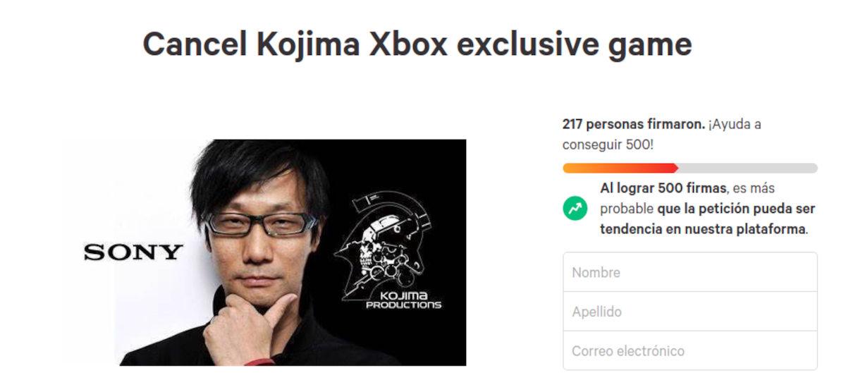 Fanboys quieren que Hideo Kojima cancele su juego en Xbox