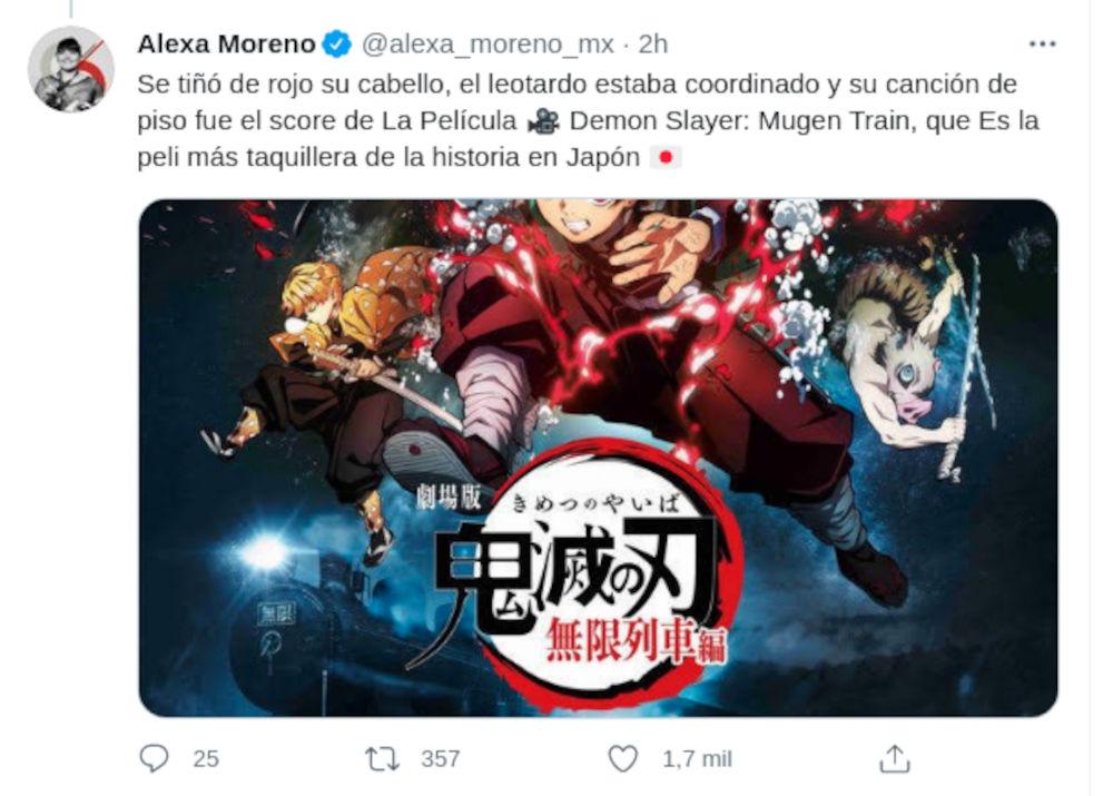 Alexa Moreno usó música de Kimetsu no Yaiba en los Juegos Olímpicos