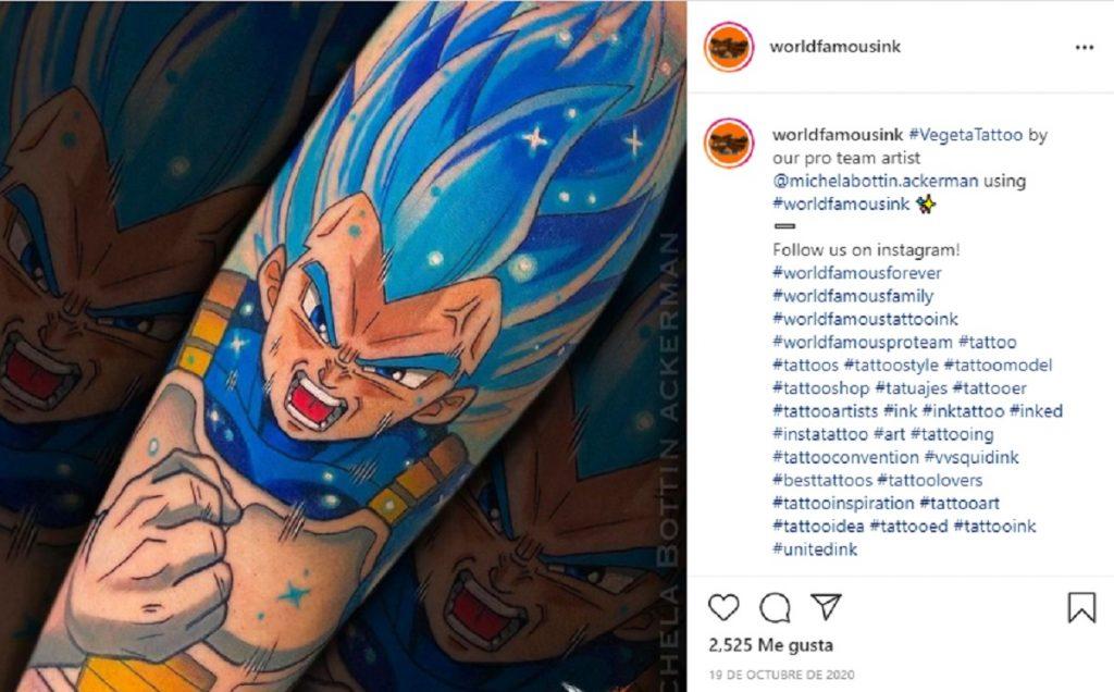Tatuaje de Dragon Ball Vegeta