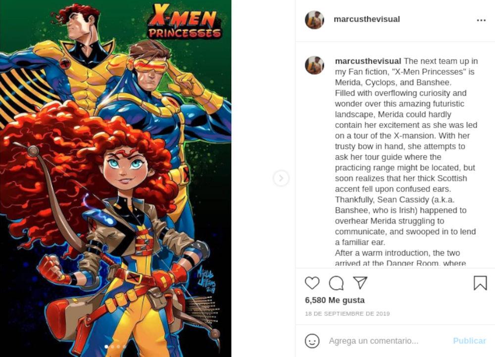 Artista mezcla a los X-Men con las Princesas Disney