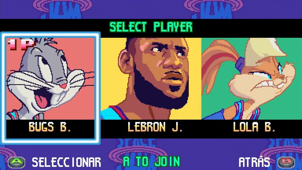 looney tunes game lebron james