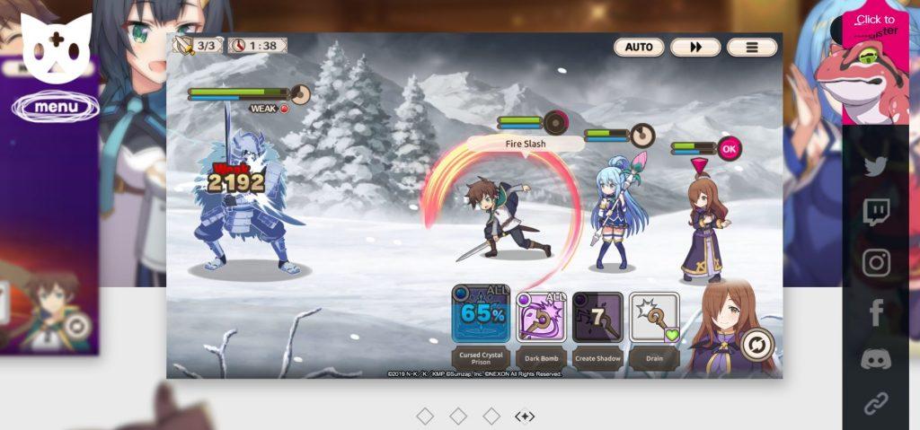 konosuba fantastic days gameplay